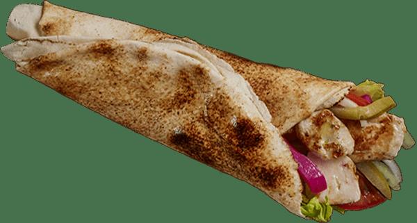 Char Grilled Skewer Chicken Wrap
