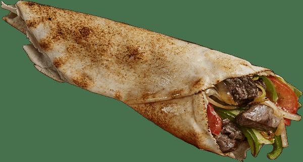 Char-Grilled Skewer Lamb Wrap