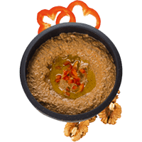Sheesh capsicum & walnut dip